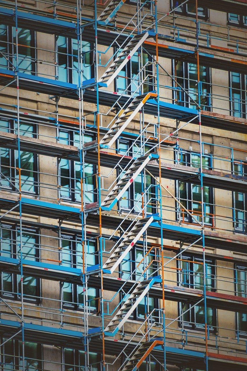 scaffolding, site, scaffold